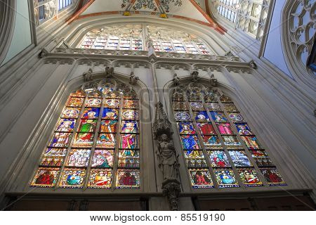 Stained Glass  In The Cathedral  The Dutch City Of Den Bosch