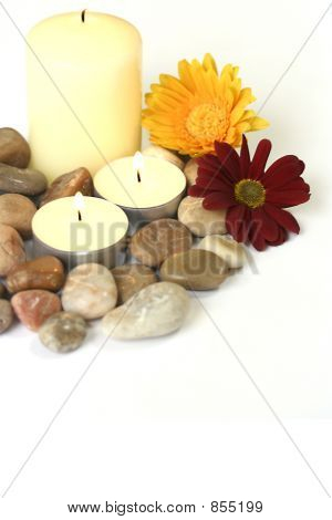 Candle and stone therapy