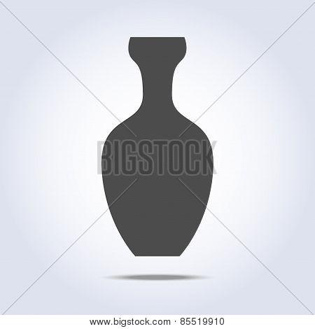 Vase icon in gray colors