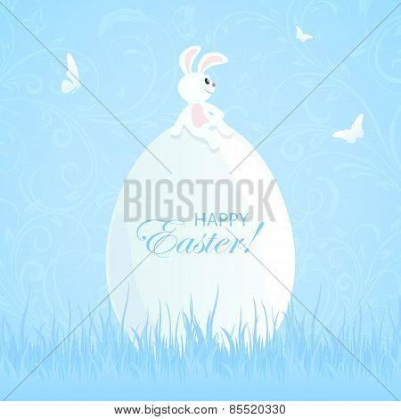 Easter Rabbit And Big Egg