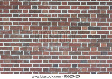 Brick wall background with red bricks