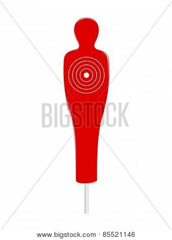 Red and white human target