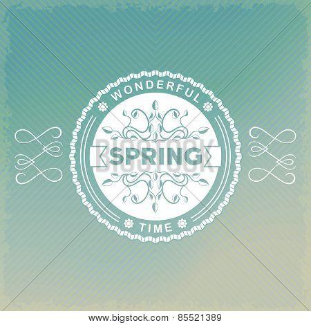Spring vintage label
