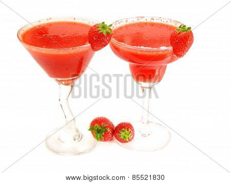 Cocktails Collection - Strawberry Margarita and Daiquiri