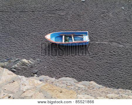 A black sand beach on Fuerteventura