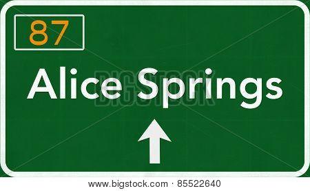 Alice Springs Australia Highway Road Sign