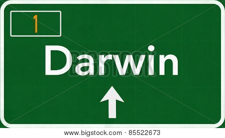 Darwin Australia Highway Road Sign