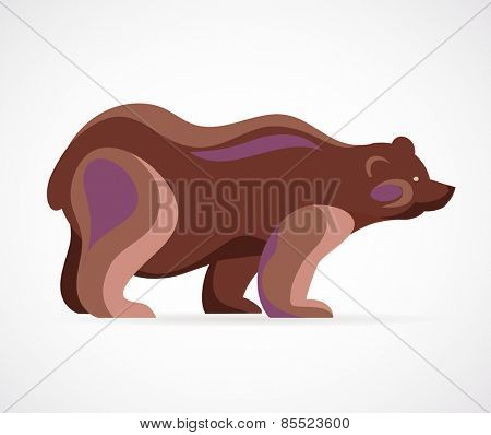 Bear symbol - vector illustration and icon