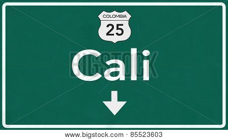 Cali Colombia Highway Road Sign