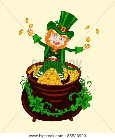 Illustration of Cheerful Patrick.