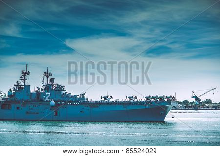 Warship In The Bay