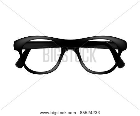 Retro glasses frame in dark design without lenses