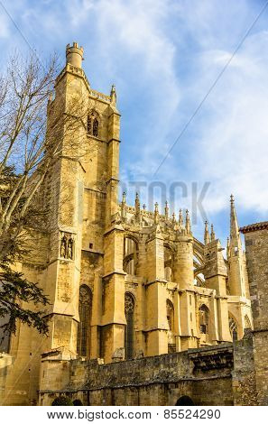 Details Of The Narbonne Cathedral - France