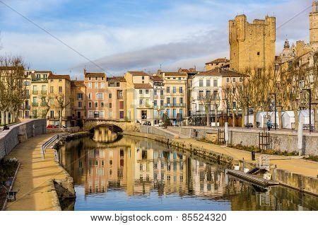 Canal De La Robine In Narbonne, Languedoc-roussillon - France