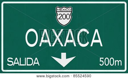 Oaxaca Mexico Highway Road Sign