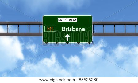 Brisbane Australia Highway Road Sign