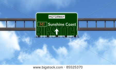 Sunshine Coast Australia Highway Road Sign