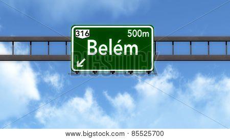 Belem Brazil Highway Road Sign
