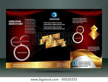 Brochure folder leaflet design element