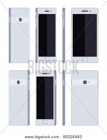Generic white smartphone