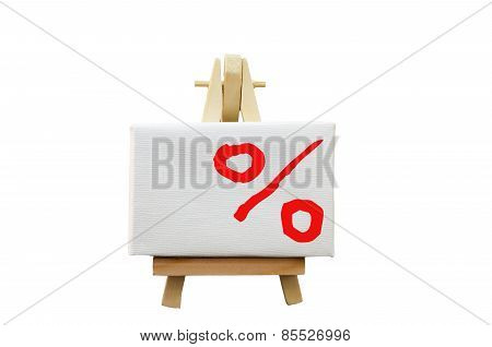 Easel With A Percent Sign
