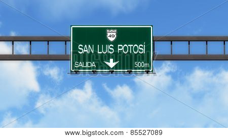 San Luis Potosi Mexico Highway Road Sign