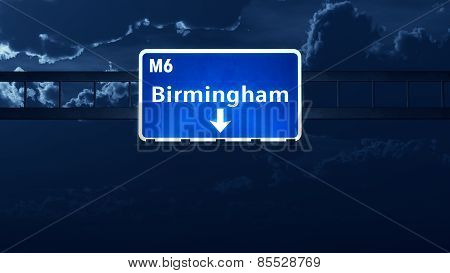 Birmingham England United Kingdom Highway Road Sign