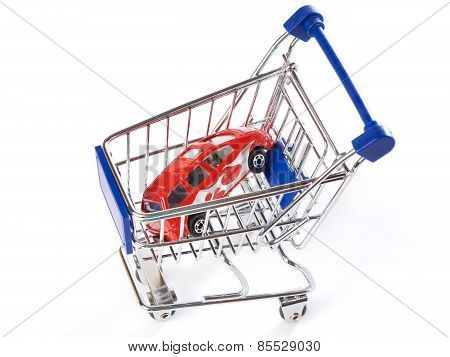 Shopping Trolley With Car