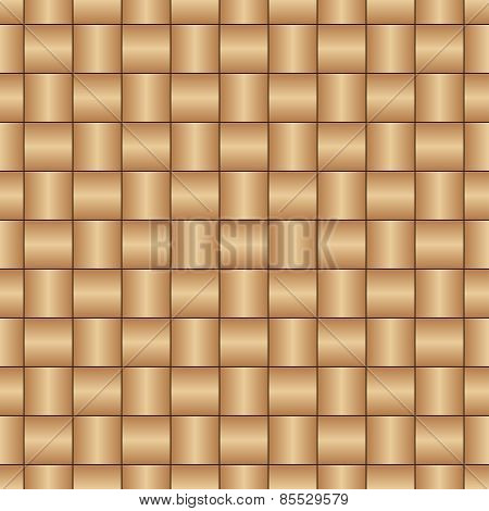 Abstract decorative wooden textured basket weaving seamless pattern