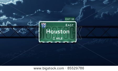 Houston USA Interstate Highway Road Sign