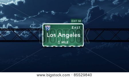 Los Angeles USA Interstate Highway Road Sign