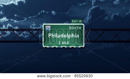 Philadelphia USA Interstate Highway Road Sign