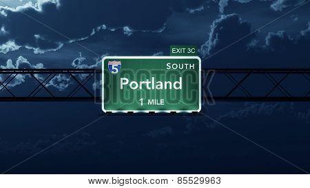 Portland USA Interstate Highway Road Sign