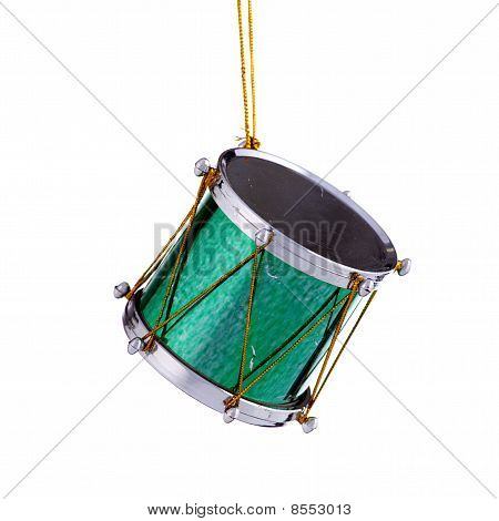Green Christmas Drum Ornament