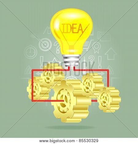 Gear With Light Bulb