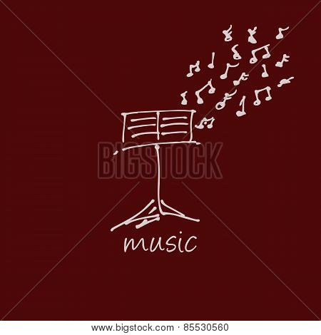 Abstract Music Design For Use As A Background