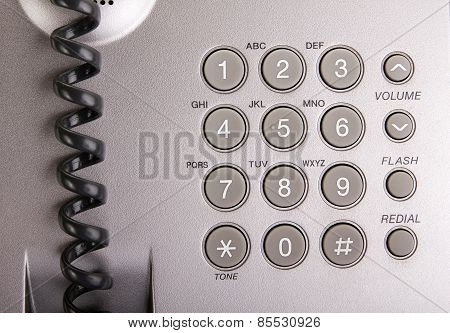 Macro Of Telephone Keypad