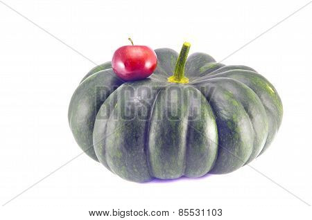 Small And Big - Red Apple And Green Pumpkin