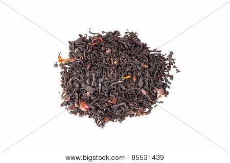 Mixed Black Truffle Spicy Tea Isolated On White, Top View