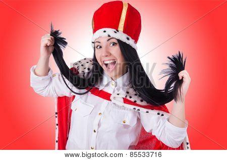 Queen businesswoman in business concept