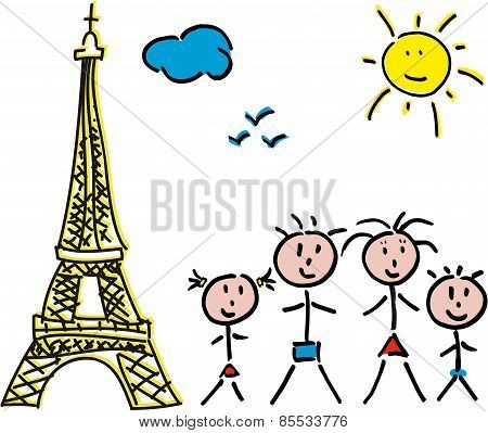 Family Paris Eiffel