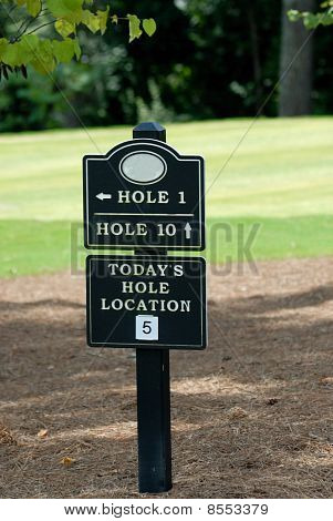 Golf Marker Sign