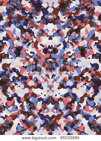 Red And Blue Camouflage Pattern