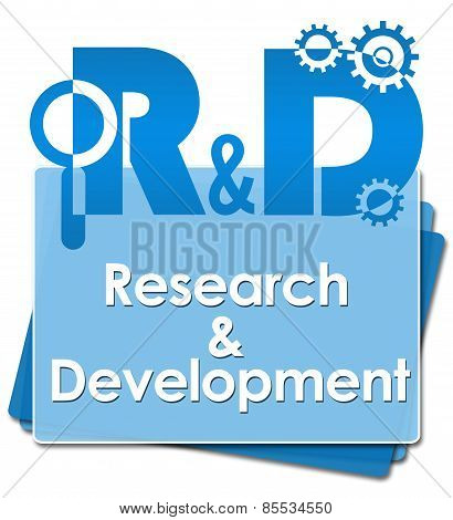R And D - Research And Development Blue Bottom Squares