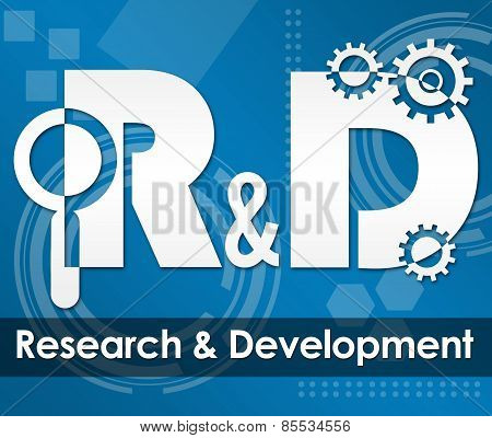 R And D - Research And Development Tecy Background Square
