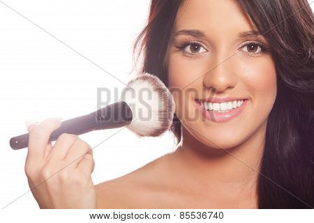 Young Woman Getting Professional Beauty And Makeup Treatment
