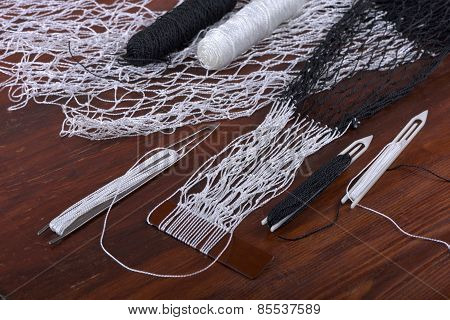 Tools For Weaving Fishnet