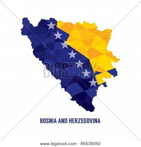 Map Of Bosnia Herzegovina.