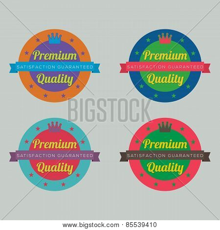 Set Of Colorful Badge Labels.
