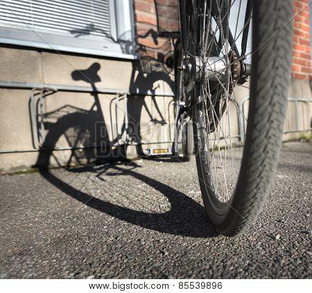 Bike Casting Shadow